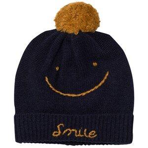 Emile et Ida Unisex Headwear Blue Hat Smile Marine