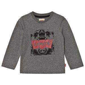 Levis Kids Boys Tops Grey Grey Bear Logo Tee