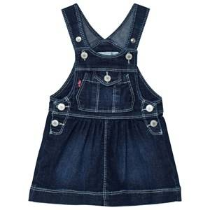 Image of Levis Kids Girls All in ones Blue Denim Dungaree Dress Dark Wash