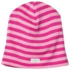 Nova Star Girls Headwear NB Pink Striped Beanie