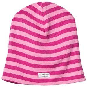 Nova Star Girls Headwear Pink NB Pink Striped Beanie