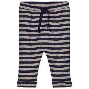 Noa Noa Miniature Boys Bottoms Blue Stripe Pants Grey/Navy