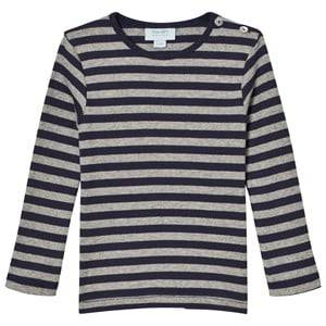 Noa Noa Miniature Boys Tops Blue Stripe Tee Grey/Navy