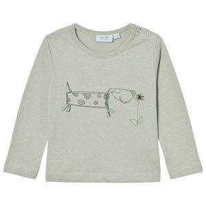 Noa Noa Miniature Boys Tops Grey Embroidered Dog Tee Puritan Grey