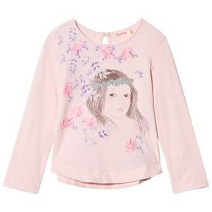 Billieblush Girls Tops Pink Pale Pink Floral Girl Print Tee