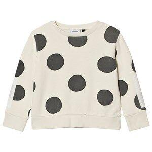 Wynken Unisex Jumpers and knitwear Cream Cream Spot Print Sweatshirt Charcoal