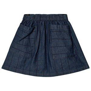 Wynken Girls Skirts Blue Denim Stripe Skirt