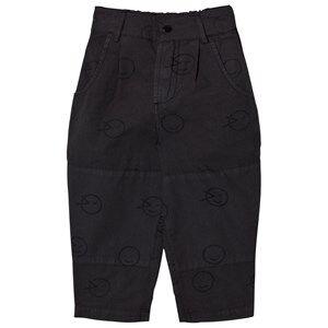Wynken Boys Bottoms Black Charcoal Wink Patch Pants