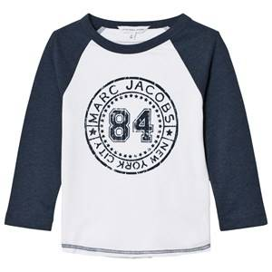 Little Marc Jacobs Boys Tops Blue White/Blue Raglan Branded Tee