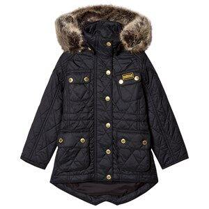 Barbour Girls Coats and jackets Black Black Enduro Long Line International Quilt Parka