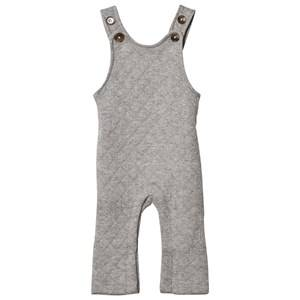 Hatley Boys All in ones Grey Grey Quilted Jersey Dungarees