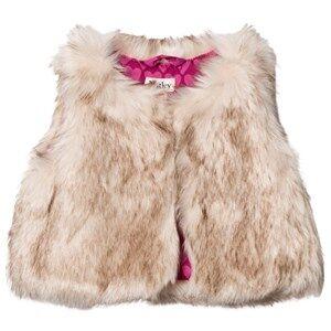 Hatley Girls Coats and jackets Beige Beige Faux Fur Vest
