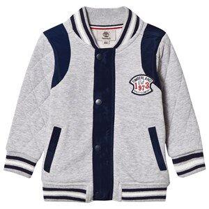 Timberland Boys Coats and jackets Grey Grey Marl Branded Sweat Bomber Jacket