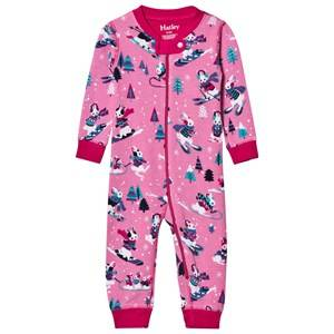 Hatley Girls All in ones Pink Pink Ski Bunnies Onesie