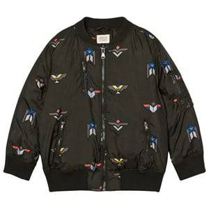Giorgio Armani Junior Boys Coats and jackets Green Olive Down Branded Bomber Jacket