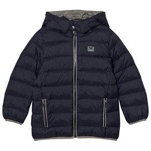 Giorgio Armani Junior Boys Coats and jackets Navy Navy Down Hooded Puffer Coat with Logo