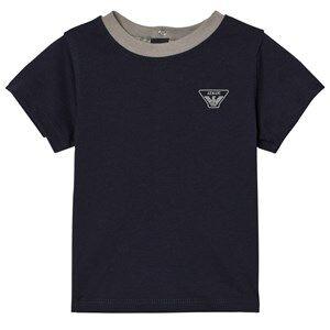 Giorgio Armani Junior Boys Tops Navy Navy Classic Logo Short Sleeve Tee
