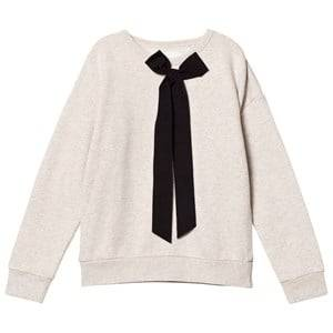 Les Coyotes De Paris Girls Jumpers and knitwear White Carmel Oversized Sweatshirt Off-White Melange