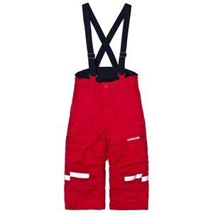 Didriksons Unisex Bottoms Idre Kids Pants Red