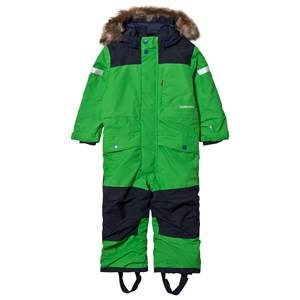 Didriksons Unisex Coveralls Green Björnen Kid´s Coverall Kryptonite