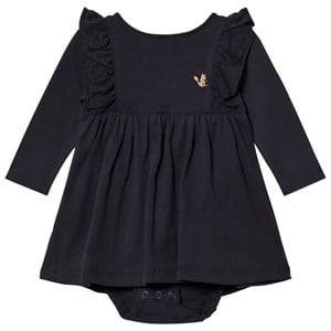 Emile et Ida Girls Dresses Black Orage Baby Body Dress