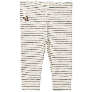 Emile et Ida Unisex Bottoms Grey Striped Leggings