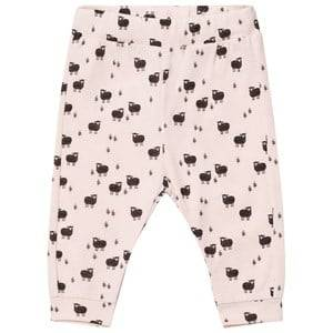 Emile et Ida Girls Bottoms Pink Baby Lamb Sweatpants Rose