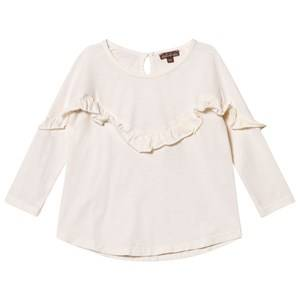 Emile et Ida Girls Tops White Ecru Frill Blouse