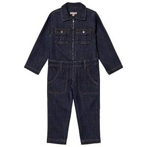 Emile et Ida Girls All in ones Blue Denim Overalls