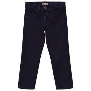 Emile et Ida Girls Bottoms Blue Trousers with Cat Pockets Marine