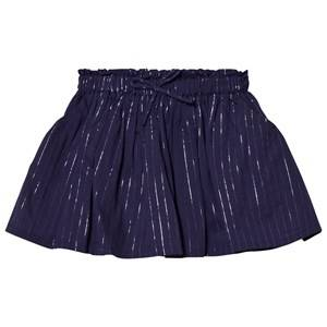 Emile et Ida Girls Skirts Blue Skirt with Glitter Stripes Marine