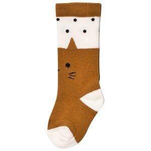 Emile et Ida Girls Underwear Brown Socks Cat Gato