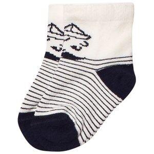 Emile et Ida Boys Underwear White Sailor Stripe Socks