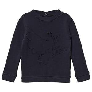 Emile et Ida Boys Jumpers and knitwear Black I Have A Dream Sweater Orage