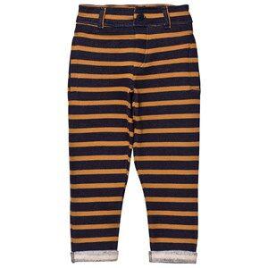 Emile et Ida Boys Bottoms Black Striped Striped Sweatpants MarStriped Sweatpants Marine/Ocreine/Ocremarine/ocre