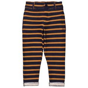 Emile et Ida Boys Bottoms Black Striped Striped Sweatpants MarStriped Sweatpants Marine/Ocreine/Ocremarine/ocre