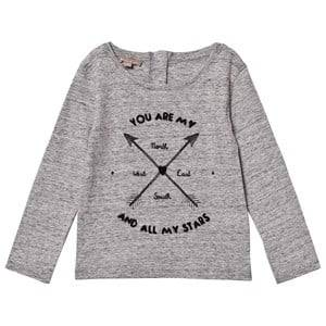 Emile et Ida Girls Tops Grey Arrows Tee Gris Chine