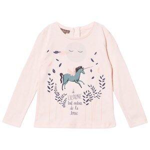 Emile et Ida Girls Tops Pink Unicorn Tee Rose