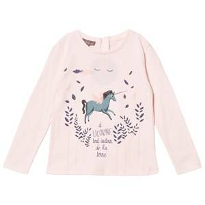 Emile et Ida Girls Tops Pink Unicorn Tee Rose