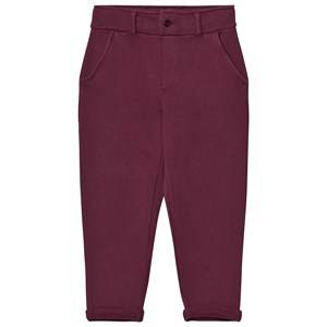 Emile et Ida Boys Bottoms Purple Sweatpants Prune and Ocre