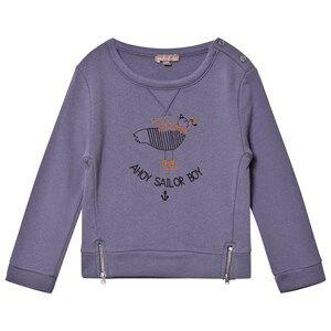 Emile et Ida Boys Jumpers and knitwear Blue Sailor Boy Sweater Indigo