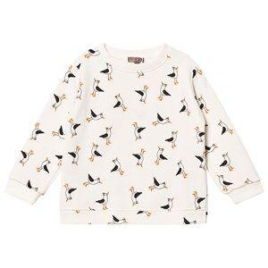 Emile et Ida Boys Tops White Seagull Sweater