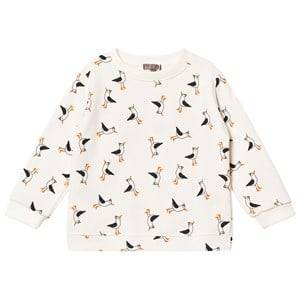Emile et Ida Boys Tops White Seagull Sweater