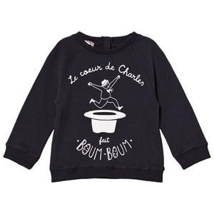 Emile et Ida Girls Jumpers and knitwear Black Charles Sweater Orage