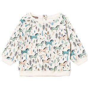 Emile et Ida Girls Jumpers and knitwear Beige Ecru Unicorns Sweater