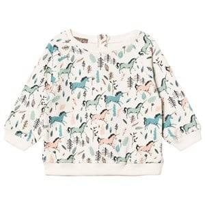 Emile et Ida Girls Jumpers and knitwear Beige Ecru Unicorns Sweater