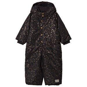 MarMar Copenhagen Unisex Coveralls Black Ollie Snow Suit Black Star Flake