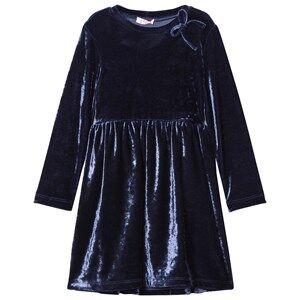 Il Gufo Girls Dresses Navy Navy Velvet Party Dress