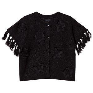 IKKS Girls Jumpers and knitwear Black Black Star Applique Knit Glitter Poncho