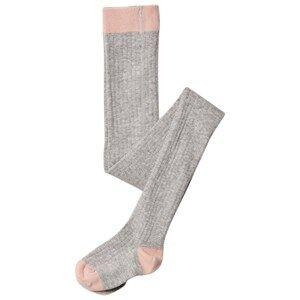 Noa Noa Miniature Girls Underwear Grey Rib Tights Light Grey